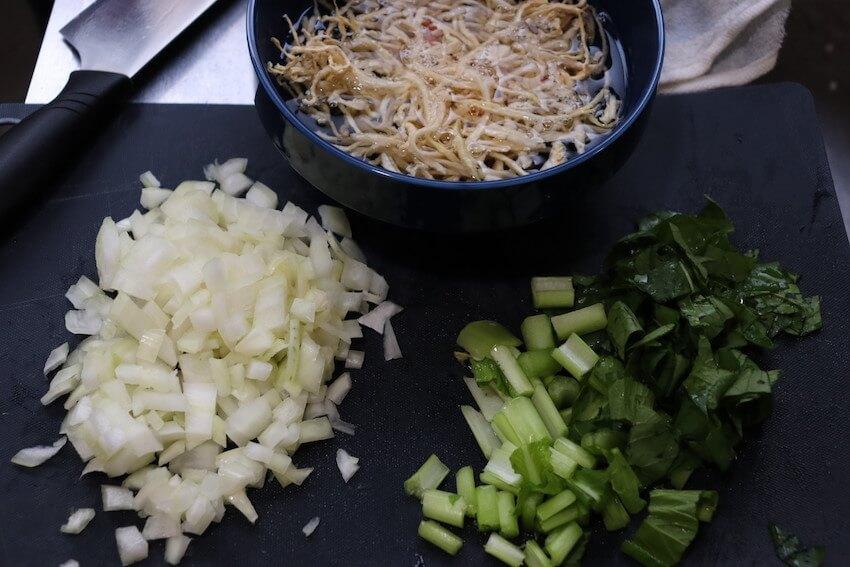 玉ねぎ、小松菜、切り干し大根
